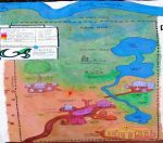 Mapa de la nueva Villa de Paz de OTEPIC incluyendo el proyecto del pozo (Clic para agrandar)